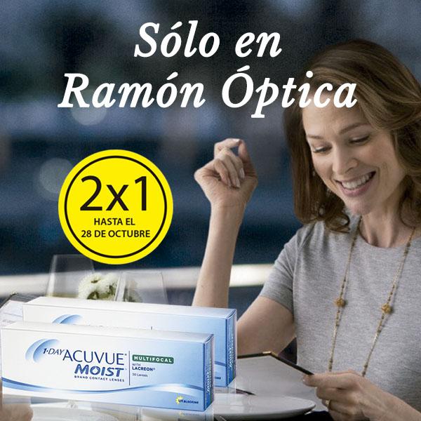 2×1 en lentillas Acuvue Multifocal 1-Day