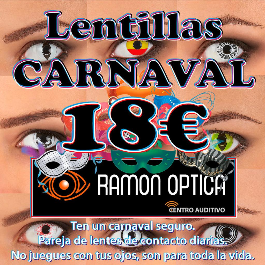 Lentillas de carnaval | Febrero