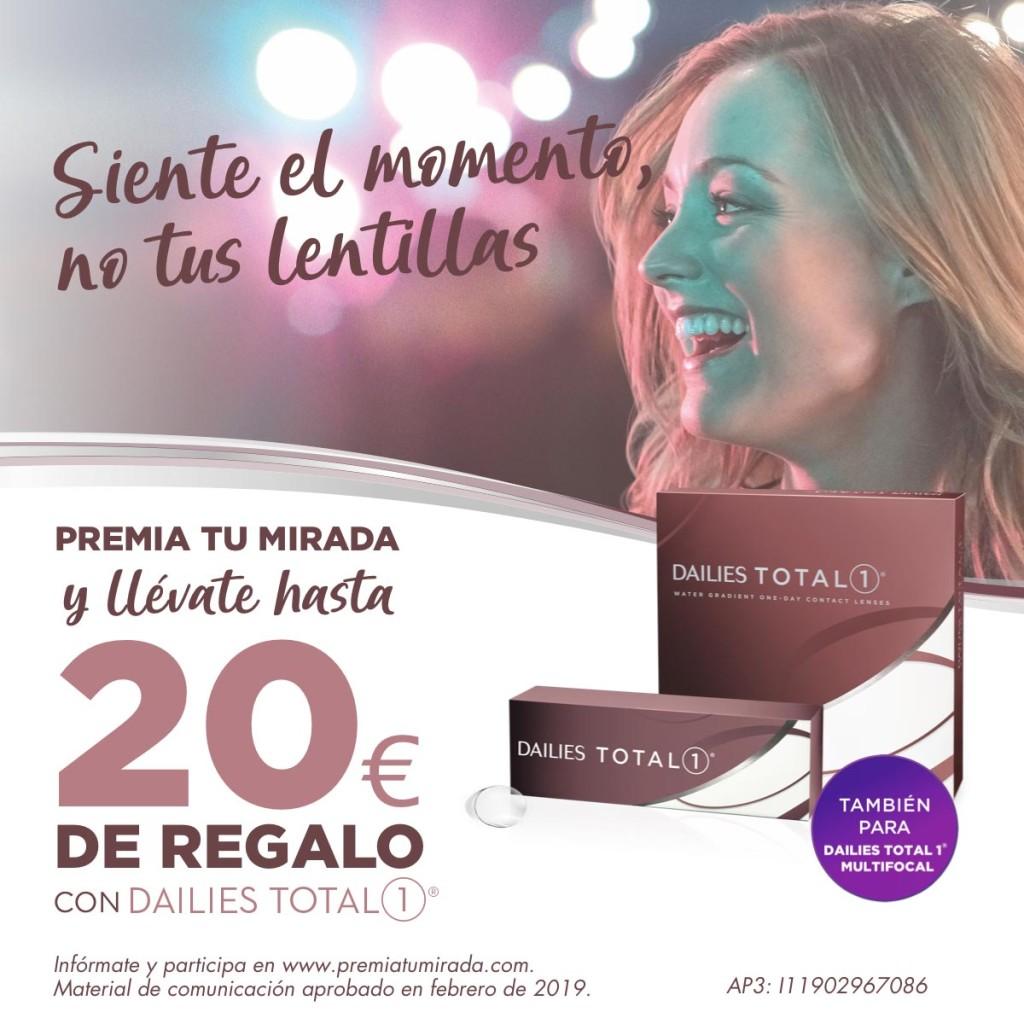 Llévate hasta 20€ de regalo con tus lentillas Dailies
