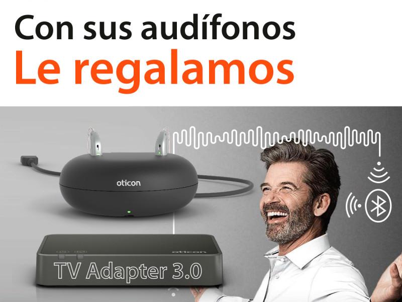 Con tus audífonos le regalamos un TV Adapter 3.0!